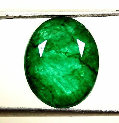 7.60 CT Natural Certified Oval Cut Colombian Green Emerald loose Gemstone