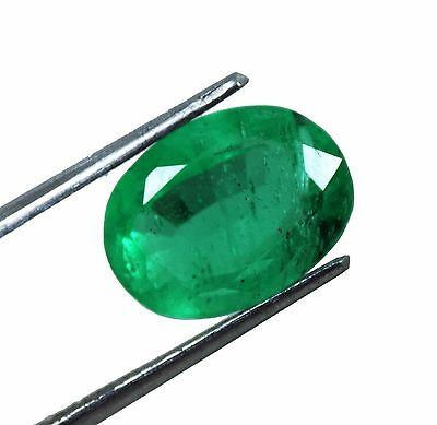 7.00 Ct Natural Certified Oval Shape Beautiful Colombian Green Emerald Gemstone