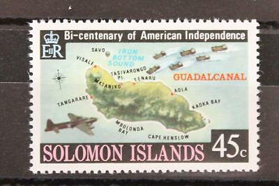 Soloman Islands 1976 American Revolution 45c Watermark Crown to Right of CA MNH