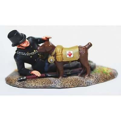 Empire Miniatures 1:32 W1-1415 WW1 Belgian Wounded with Red Cross Dog