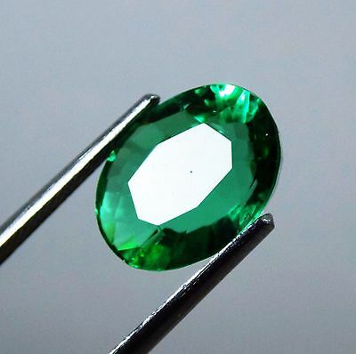 4.70 Ct Natural Certified Oval Cut Beautiful Colombian Green Emerald Gemstone