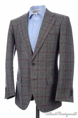 SUIT SUPPLY Gray Plaid Check Wool Dual Vent Blazer Sport Coat Jacket - 38 R