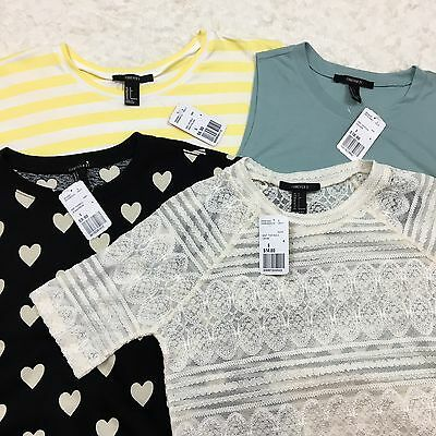 Lot of 4 NEW Tops Forever 21 Size Small Women's Spring Summer Knit Shirts S NWT