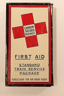 Vintage Canadian National Railways CNR First Aid Kit Rare