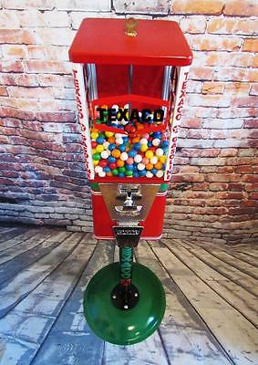 Texaco gas candy machine vintage gumball machine with stand