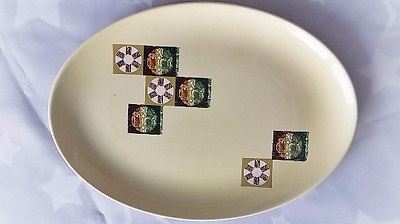 Carlton Ware Vintage China Mid Century Modern  Side Plate 1960s Tapestry Pattern