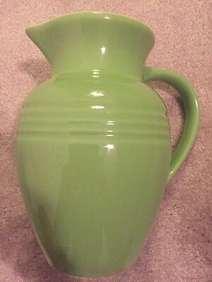 Lime Green Kiwi Le Creuset Vase Pitcher Utensil Holder