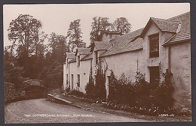 Postcard Old Blair nr Killiecrankie Perthshire Atholl the Cottages and Bridge RP