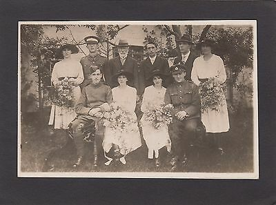 Postcard Brecon Powys Wales four brides from Brecon dated 1919 old RP by Clark