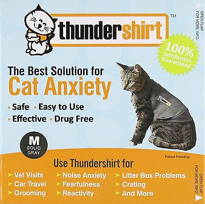 THUNDERSHIRT Classic CATS SMALL SOLID GRAY - Under 9 lbs CAT