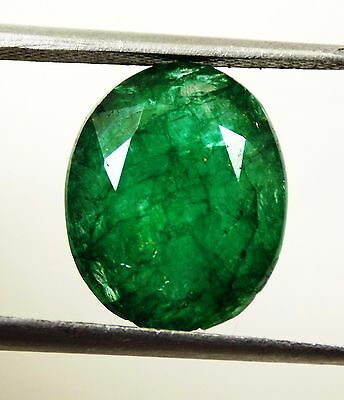 9.80 Ct Natural Oval Cut Beautiful Colombian Green Emerald Gemstone