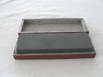 Vintage Sharpening Stone  -  In Wooden Box 6 x 2 x 5/8