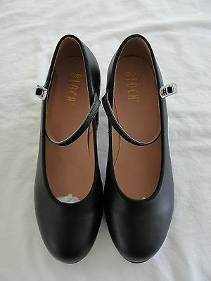 BLOCH Womens Black Leather Showtapper Tap Dancing Shoes Size 8 New in Box