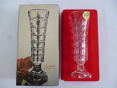 "17cm SOLIFLOR LEAD CRYSTAL VASE - ""Cristal d' Arques"" - NEW & BOXED"