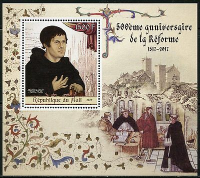 MALI 2017 500th ANNIVERSARY OF THE REFORMATION SOUVENIR SHEET MINT NH