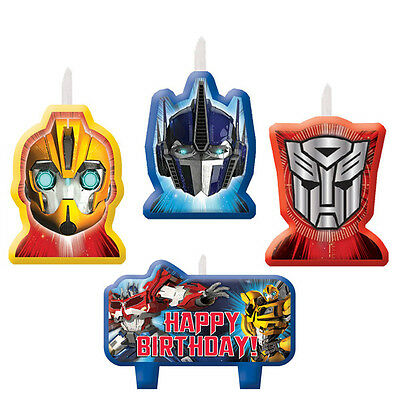 Transformers Candle Set Birthday Cake Decorations Party Supplies