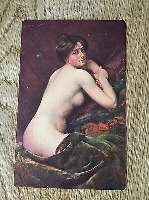 Postcard  Glamour Nude Lady By A Penot Repose