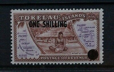 TOKELAU 1956 One Shilling 1/- Surcharge. Set of 1. Mint Lightly Hinged. SG5.