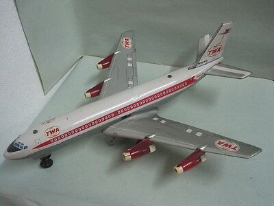 Louis Marx & Cº Inc. World Airline TWA Tin Toy Airplane Made In Japan