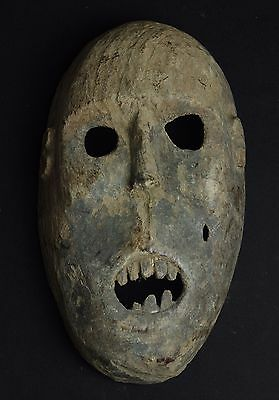 Weathered mask with scary expression - West Timor - tribal artifact