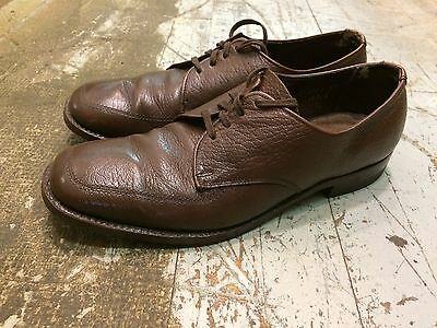 Vintage '50s DACK'S ? rockabilly hipster derby oxford brown  mens shoes sz 8 D