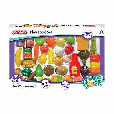 Casdon TOY Play Food Set 618 Groceries Fruit & Veg Pretend Shopping Food Cooking