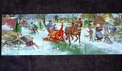 Three (3) Royal Mosa Holland Ceramic Tiles in a Set signed Hunvik