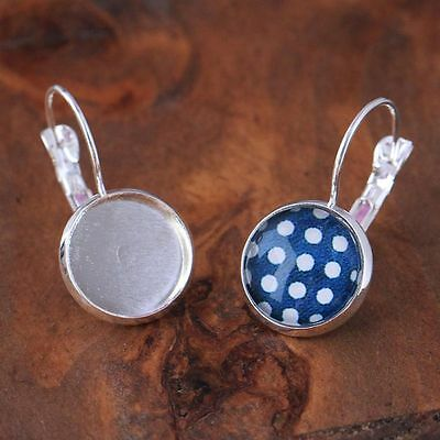 12mm Round Cabochon Setting Accessories Base Round DIY Jewelry Earring