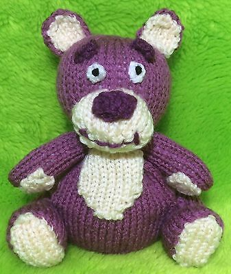 KNITTING PATTERN - Lotso Bear inspired choc orange cover / 15 cms Toy story toy