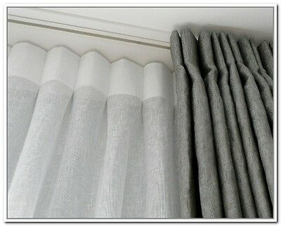 Metal curtain track - Custom Made to any Size - hand drawn - up to 150cm - WHITE
