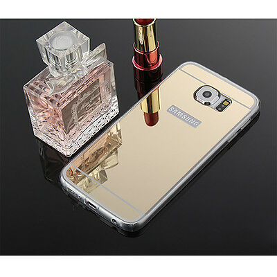 Ultra-thin Crystal Mirror TPU Soft Case Cover For Samsung Galaxy S8 Gold