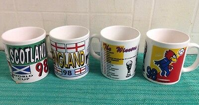 4 x official france 98 mugs
