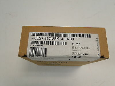 *free Over-Night Shipping!*new Siemens 6Es7 317-2Ek14-0Ab0 Simatic Central Unit