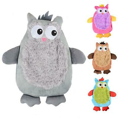 Mini Hot Water Bottle With Novelty Super Soft Plush Owl Style Removable Cover