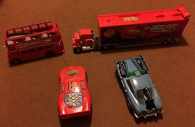 Bundle Of Disney Pixars Cars  Inc Mack Storage Truck + Bus