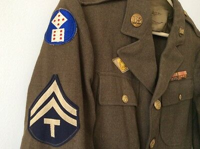 WWII US Military Uniform 11th XI Corps Army Service Forces / United States