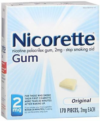 NICORETTE GUM 2MG - ORIGINAL - 170 PCS.- 2 MG EACH - Exp. 02/2018