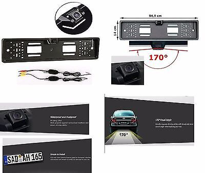 Car Rear View Kit Wireless Reverse reversing camera license plate number 170° UK