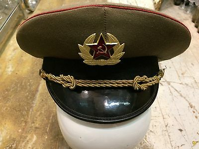 Vtg '1950 military army uniform russian aviator air force mens cap gay interest