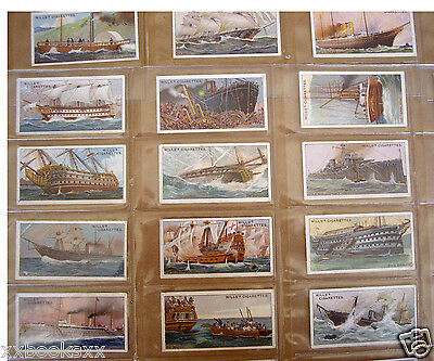 1911 Vintage Wills Cigarette Cards Celebrated Ships 50 Liners Warships Galleons