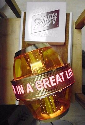"Schlitz Lighted Motion Beer Sign ""Real Gusto In A Great Light Beer"" Works"