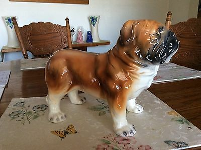 Large Vintage English Bulldog Figurine Nice