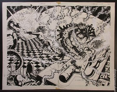 Original Wraparound Cover Art for Atomic Clones #2 by Richard Case (Unreleased)