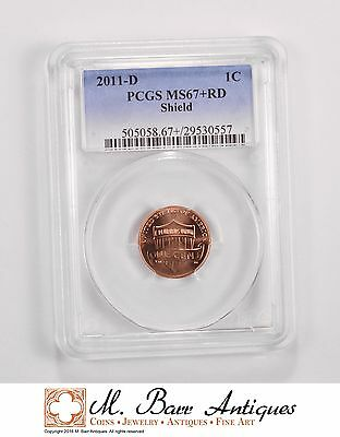 MS67+RD 2011-D Lincoln Shield Cent - Graded PCGS *5656