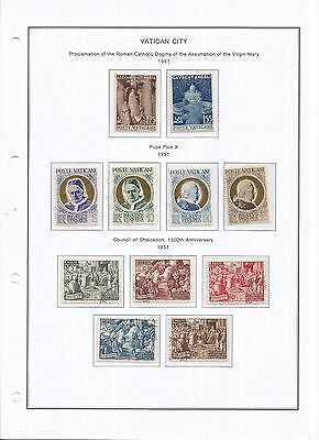 Vatican City 1951-1955 Mixed Collection Mh/used (5 Scans)