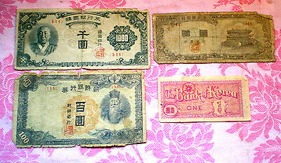 Lot Korea Bank Notes