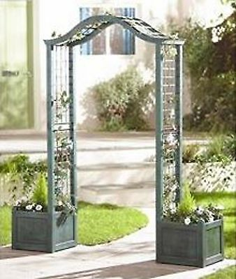 Garden Arch With Planters    Rose Flowers Structure Resin/plastic