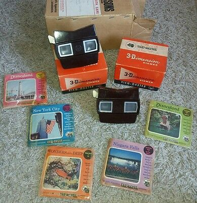 Vintage Viewmaster 3d Viewer x2 and 16 reels