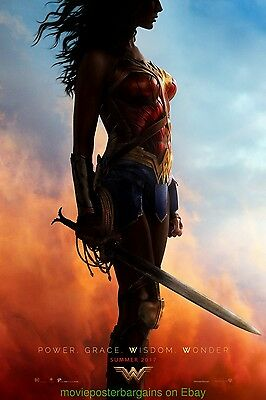 WONDER WOMAN MOVIE POSTER Original DS 27x40 First Advance Style 2017