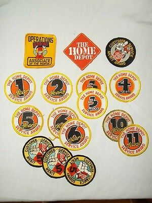 16 Home Depot Employee Patches Collection Embroidered Patches